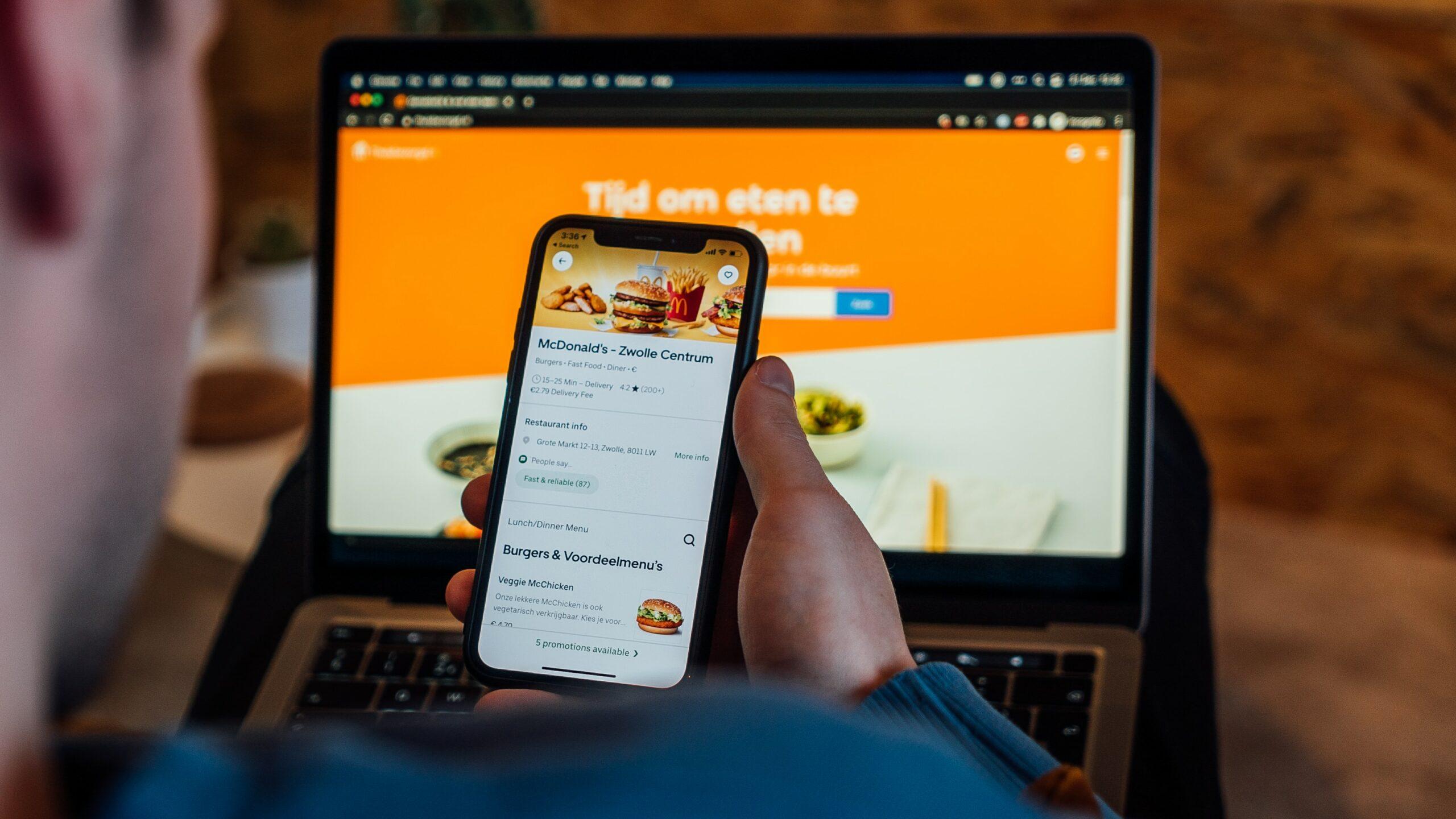 ordering food via smart phone